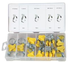 DURATOOL D01883  Hose Clip Thumbturn Set - 26Pc